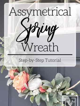 Asymmetrical Spring Wreath