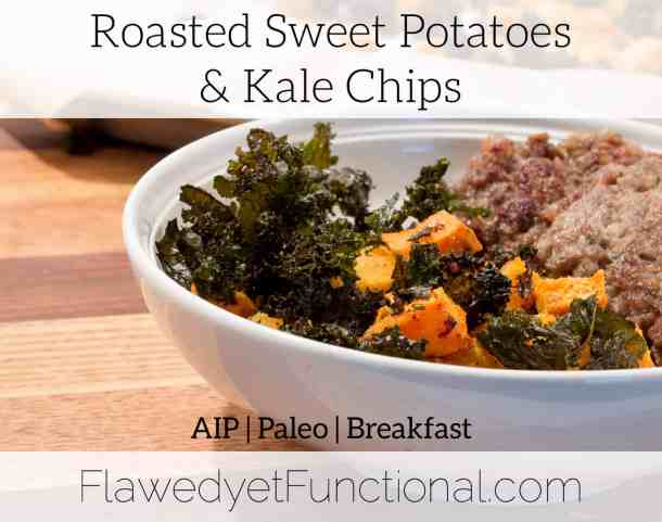 roasted sweet potato kale chip