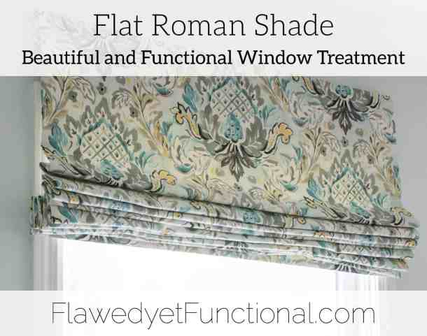 flat roman shade