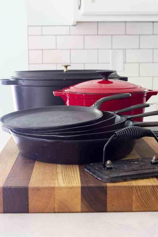 cast iron pan storage