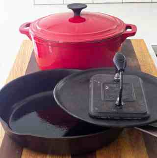 store cast iron pans