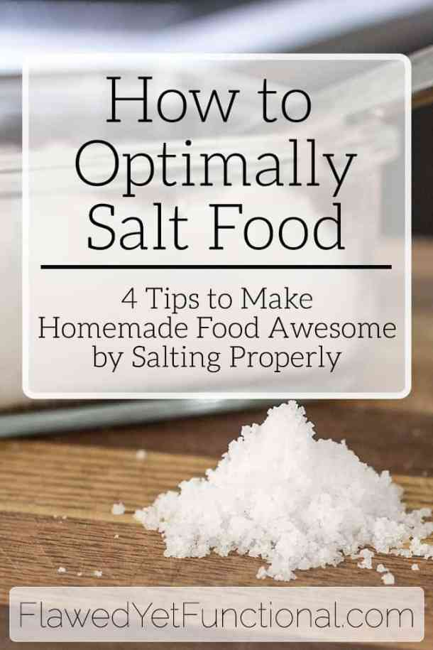 how to salt your food
