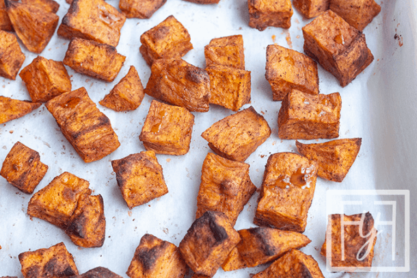 Simple Cinnamon Roasted Sweet Potatoes