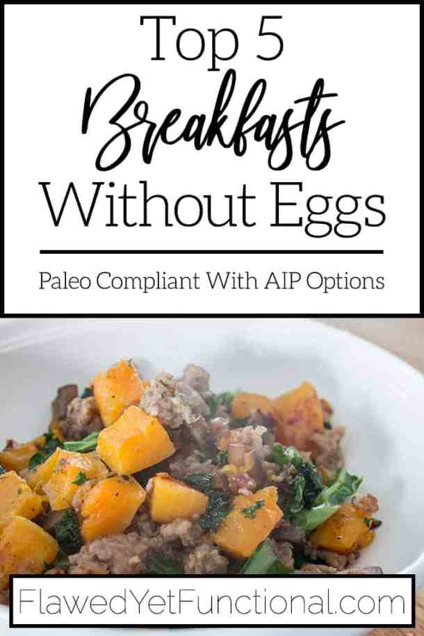 egg-free butternut squash hash in white bowl