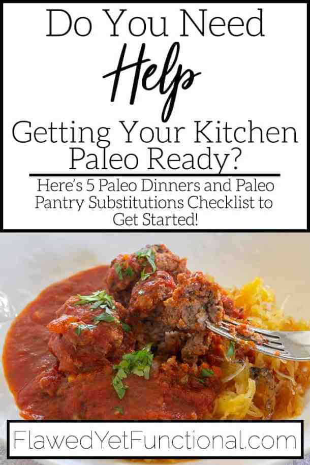 5 Paleo Dinners and Pantry Checklist