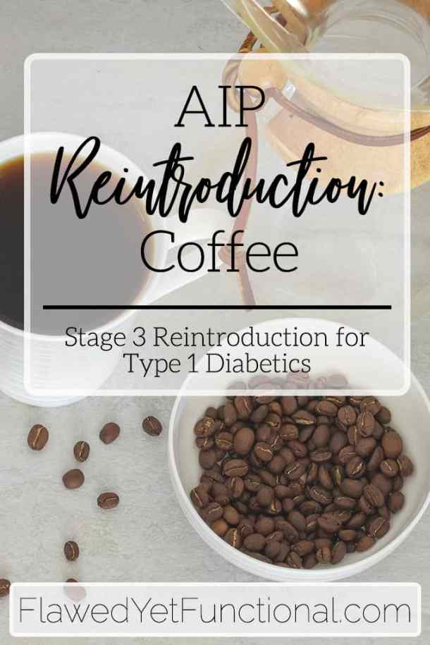 pour over coffee and coffee beans for aip coffee reintroduction