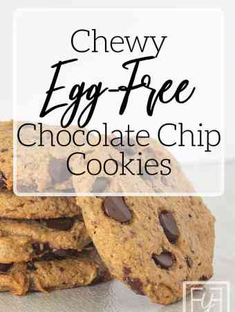 egg-free chocolate chip cookie on tile