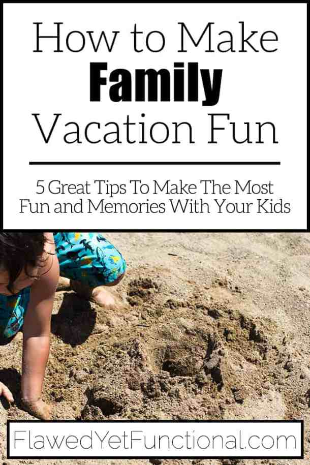 boy digging in sand to enjoy family vacations