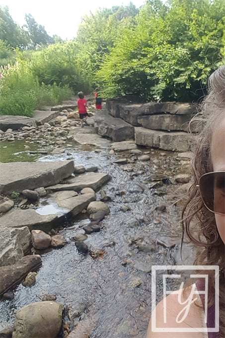 boys exploring creek be key to enjoying family vacations