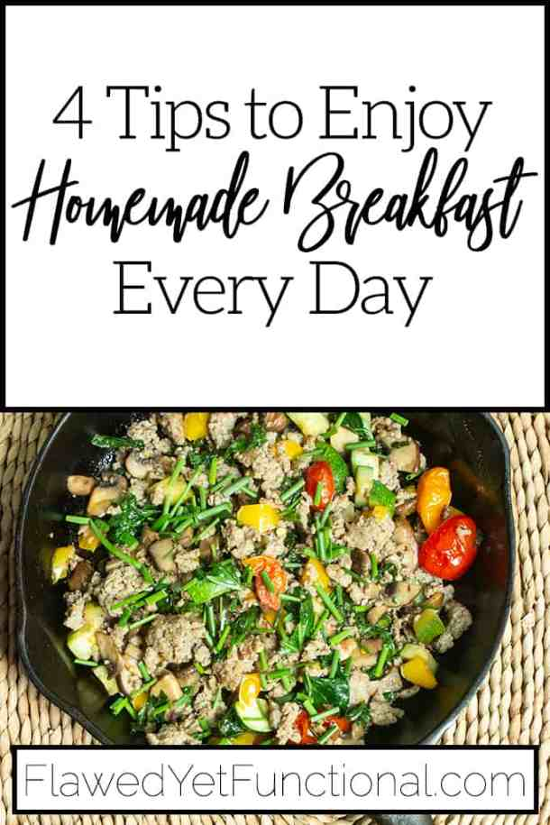 healthy hot breakfast hash in cast iron skillet