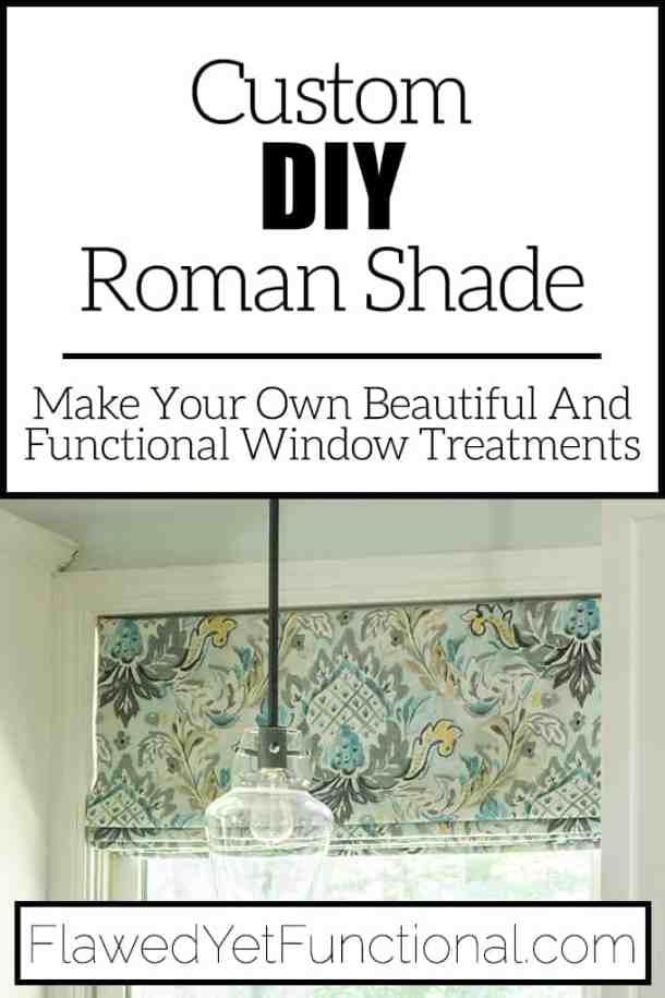 inside mount flat roman shade tutorial