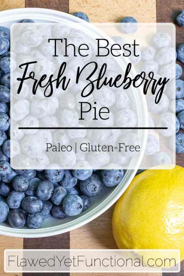 fresh blueberries and lemon for paleo pie