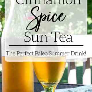 cinnamon spice sun tea in glass