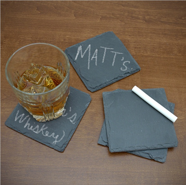 Chalk It Up Chalkboard Coasters