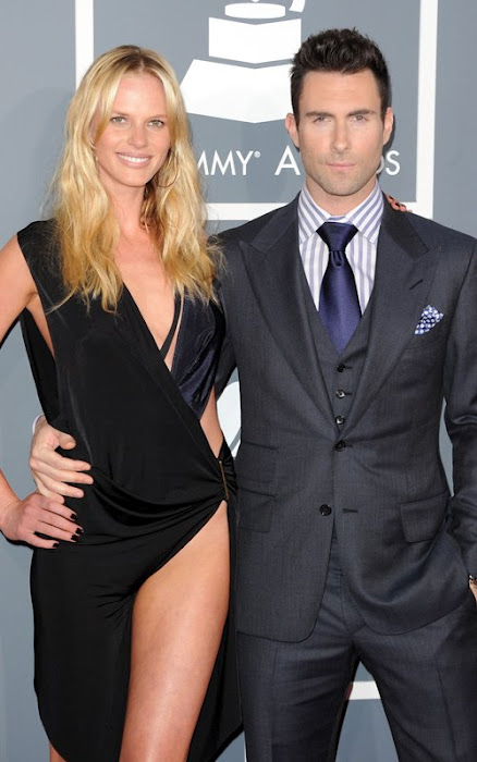 Adam Levine Grammys 2012 Red Carpet