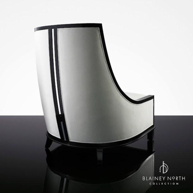 Blainey North Furniture High Back Black White Chair Back