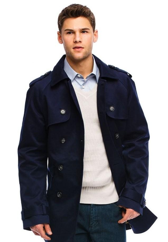 Armani Exchange Men's Classic Trench Coat