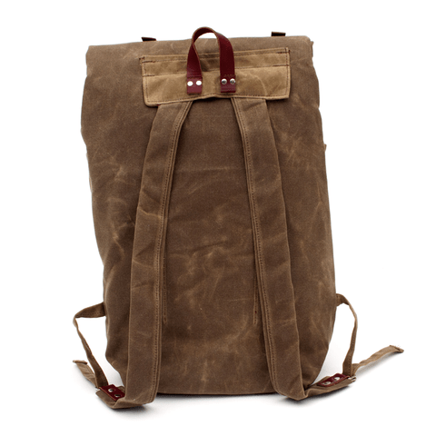Sketchbook Tan Waxed Canvas Camper Backpack
