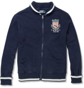 Polo Ralph Lauren Cotton Blend Jersey Cardigan