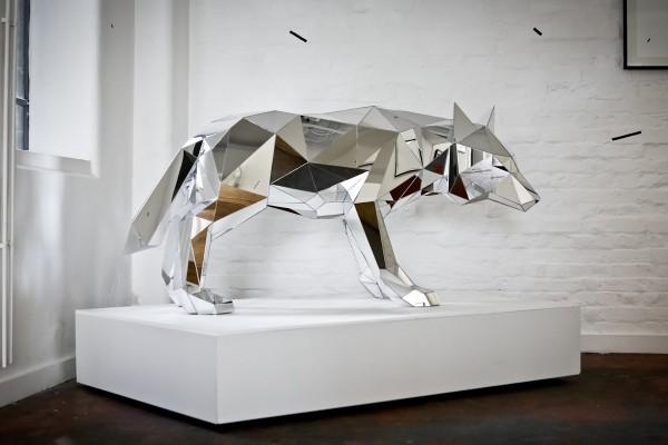 Arran Gregory Wolf Sculpture