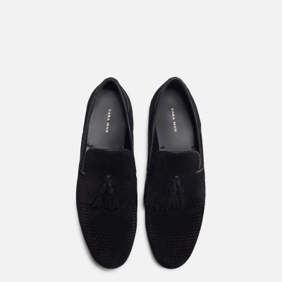 Zara Leather Loafer With Fringe Detail 3