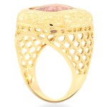 Avianne Jewelers 14K Gold Mens Amethyst Pinky Ring