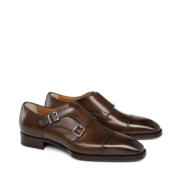 Santoni Double-Buckle Leather Shoes 2