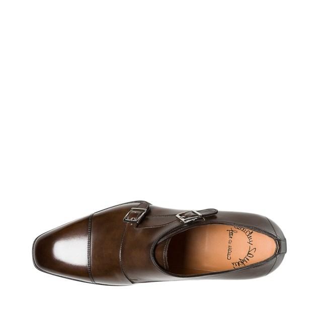 Santoni Double-Buckle Leather Shoes 4