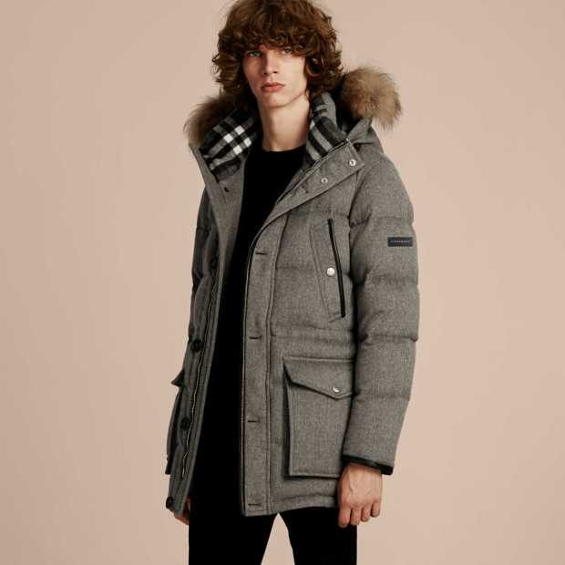 Burberry Down-Filled Cashmere Parka