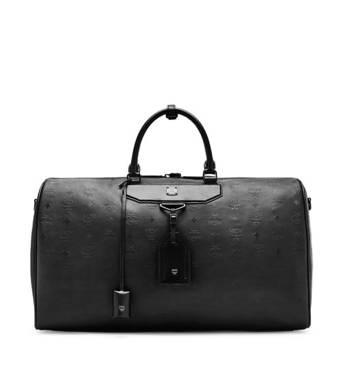 MCM Nomad Coated Large Leather Weekend Bag