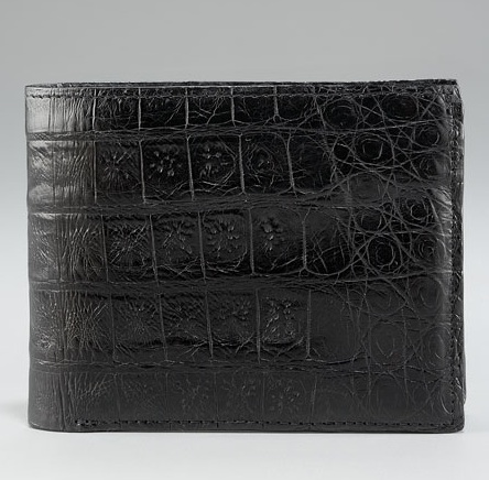 Santiago Gonzalez Crocodile Bi-Fold Wallet Black