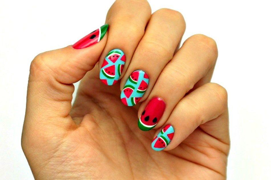 Fruit Nail Art | Watermelon Slice Tutorial - Fruit Nail Art Watermelon Slice Tutorial Perfect For Summer