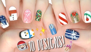 Nail art black cat design flawlessend 10 easy nail art designs for christmas the ultimate guide 4 prinsesfo Gallery