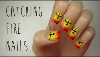 Effie trinket nail art the hunger games flawlessend the hunger games catching fire nails solutioingenieria Gallery