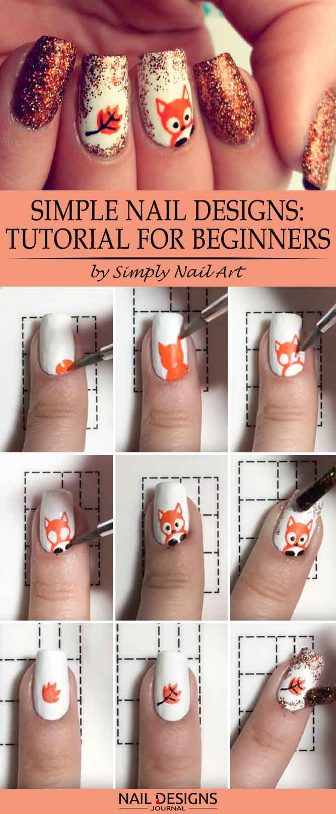Simple Nail Designs Tutorial for Beginners