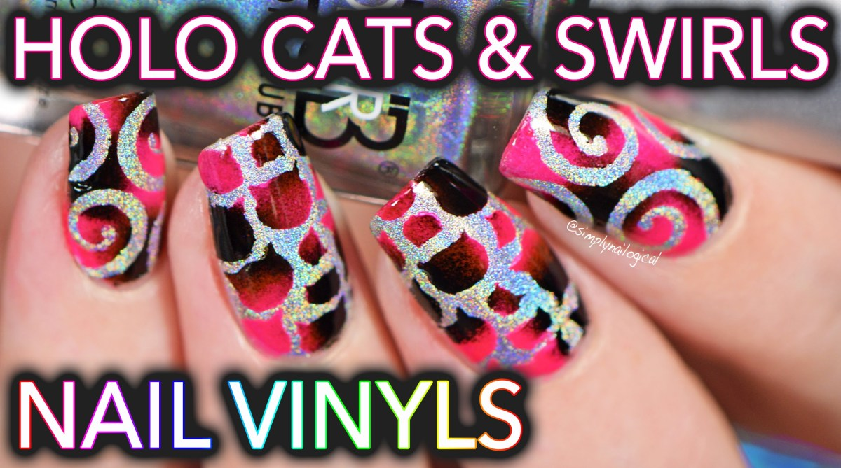 Holographic cat nails with vinyls – SO EASY MEOW – FlawlessEnd