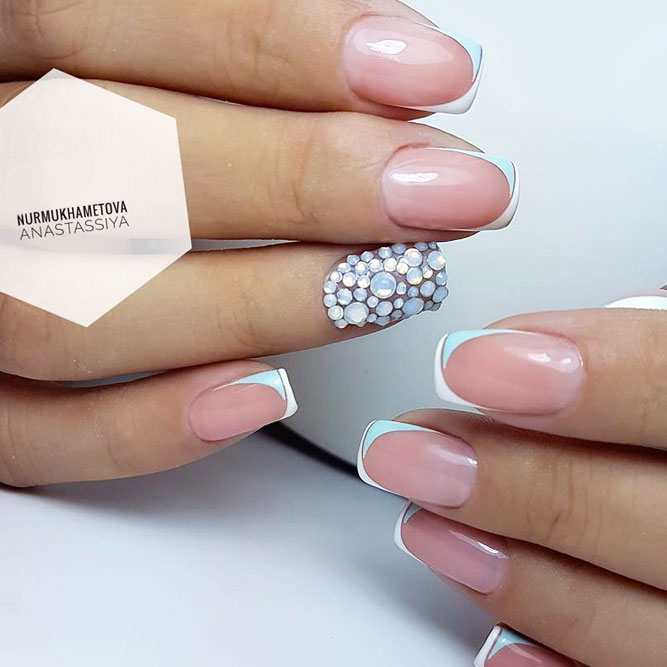Accent Nails with Rhinestones Elegant Solution picture 2