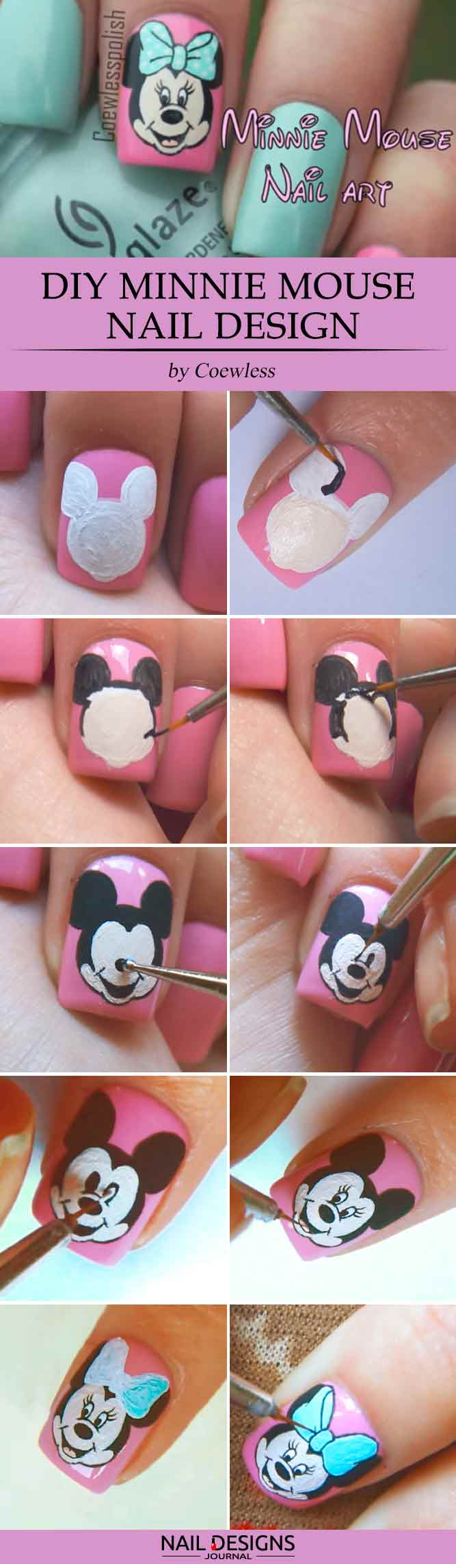 5 Lovely Mickey Mouse Nails Art Tutorials Youll Want To Try
