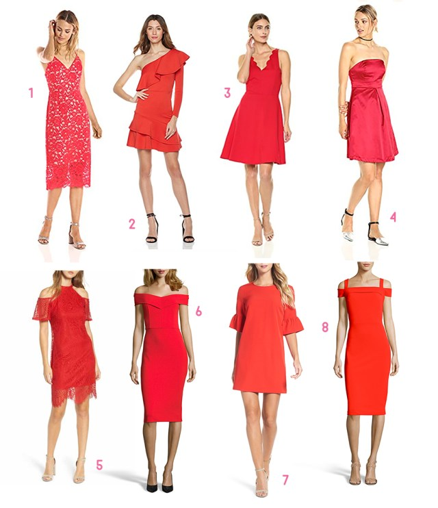 Red, White, and Pink All Over: Cute Valentine's Day Cocktail Dresses under $100 by fashion blogger Stephanie Ziajka from Diary of a Debutante, cocktail dresses under 100, Valentines dresses under 100, Affordable red cocktail dresses, cheap cocktail dresses online