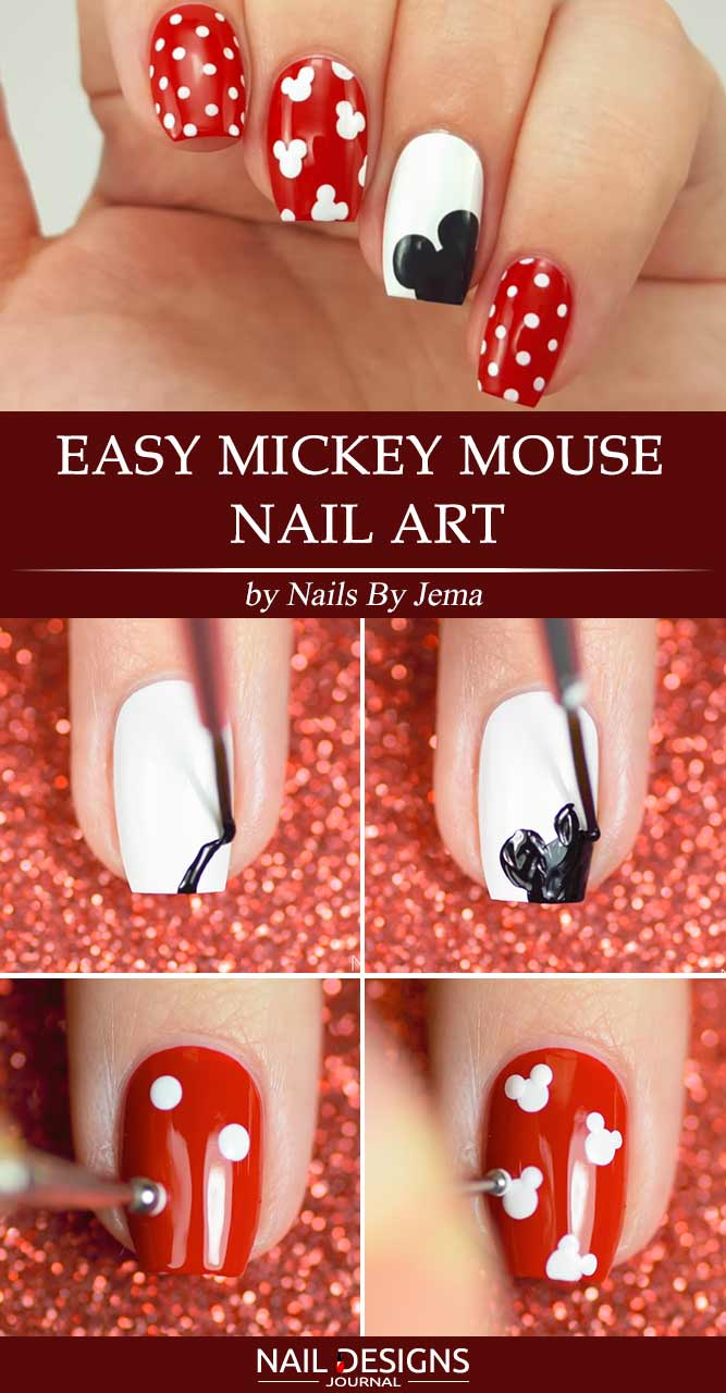 5 Lovely Mickey Mouse Nails Art Tutorials You'll Want to Try - 5 Lovely Mickey Mouse Nails Art Tutorials You'll Want To Try