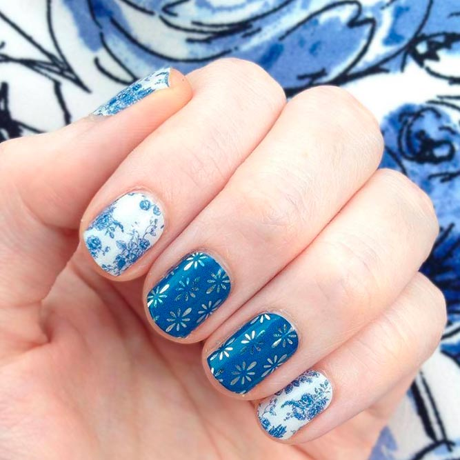 Floral Nail Designs With Water Decals and Stickers picture 2