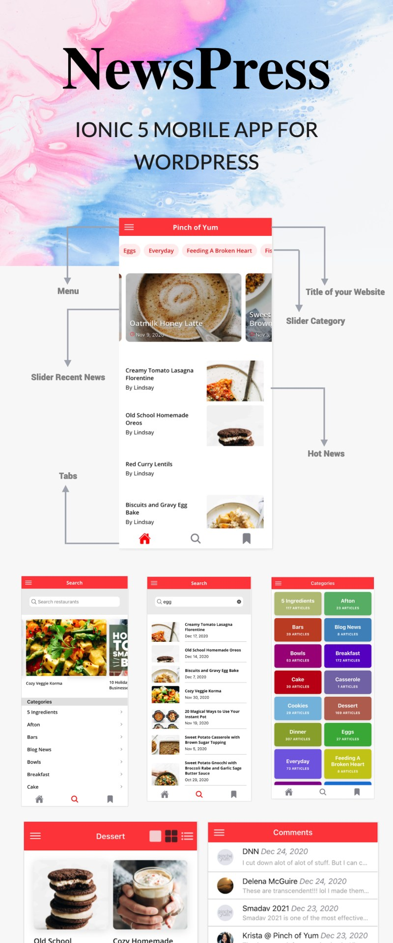 NewsPress - Ionic 5 mobile app for WordPress - 5