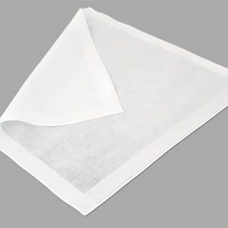 Satin Band Cotton Handkerchief