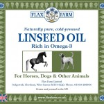 Cold-pressed linseed flax  oil omega-3 for horses and dogs