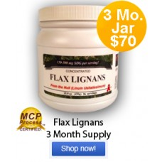 Flax Hull Lignans 3 Month Supply Jar