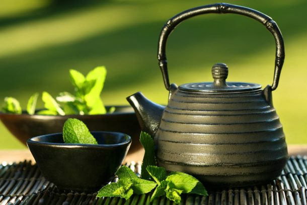 Green tea is a great way to stay awake during meditation