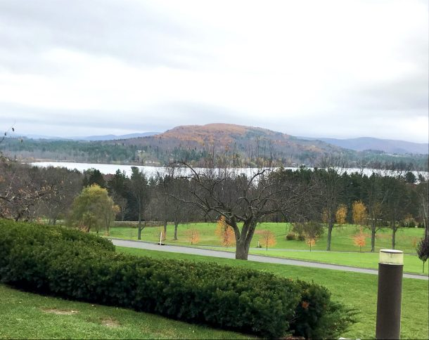 Gorgeous view of Kripalu Center for Yoga and Health located in the Berkshires