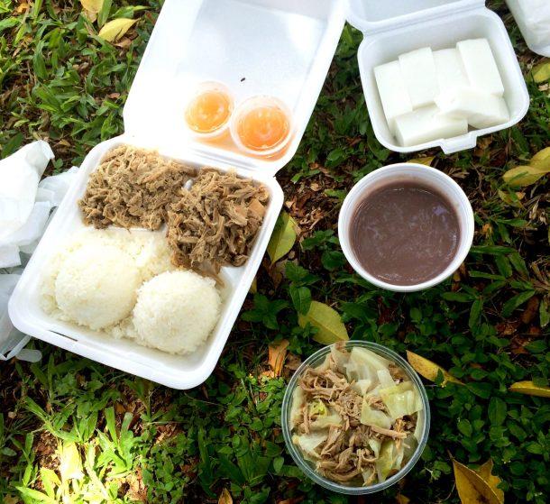 Helena's has Authentic Hawaiian Food in Waikiki, such as kalua pork, poi, and haupia