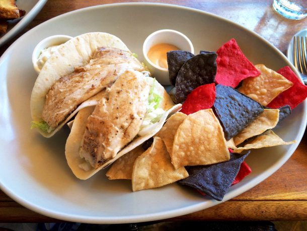 Fish tacos at Hula Grill which is a great option for gluten-free dining in Waikiki