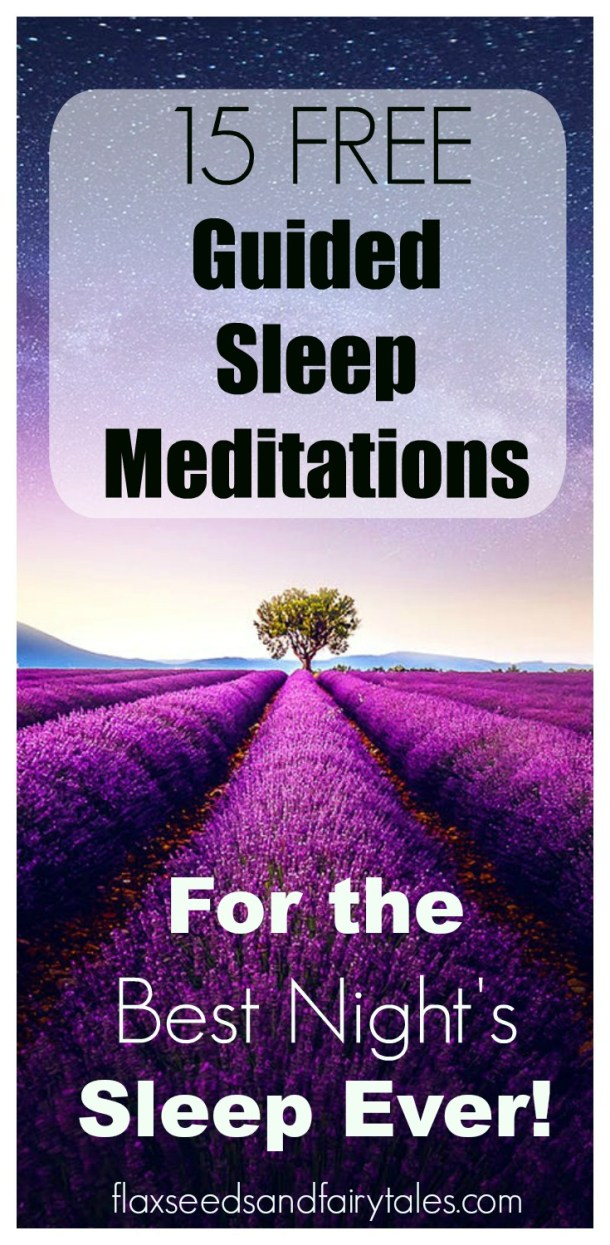 15 FREE & relaxing guided meditations for sleep that you can find on YouTube! Great for relaxation and insomnia. Includes guided sleep mediations for kids too.